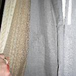 Torn curtain lining