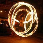Fire Dancers as part of evening entertainment