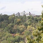Cresent Hotel from Christ of the Ozark Lookout