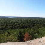 Algonquin Parc from a lookout spot. Imagine how nice it is when all the trees change colors duri