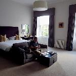 Our room on the third floor is the biggest room I've ever seen in a B&B. It was also spotless an