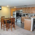 one, two and three bedroom suites