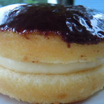 Lyndell's Boston Cream Pie (whole cake view)