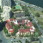  Aerial view of the resort.