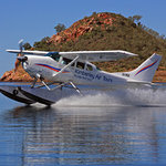 Kimberley Air Tours 206 float plane on Lake Argyle