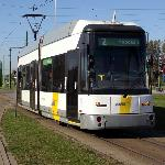 Antwerp low floor tram