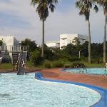  Wading pool with two slides