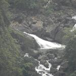  Milky white water falls