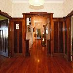 hard wood panelling entrance