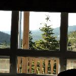 view from inside room at Sugar Hill Inn
