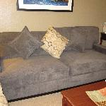 Very comfortable & deep living room sofa.
