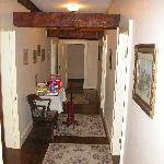  hallway to rooms. those beams go through the rooms too!
