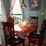 Have breakfast at our one of a kind handmade table