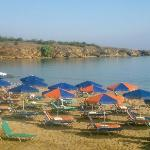 Beautiful beach of Chrisi Akti