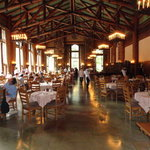 The main dining room at lunch