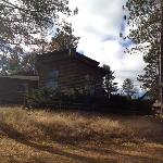 Cabin type building overlooks Michigamme River
