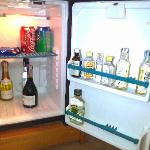 The mini bar in my room