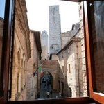 Directly in center of San Gimignano