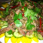 ...and the Thai chilly beef!