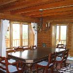 Cozy dining in our log home