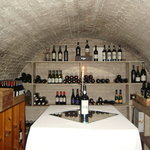 Wine cellar in basement.  It use to be a bank vault.
