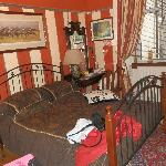 the lovely bedding and bedroom!
