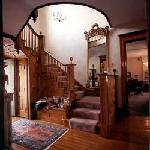 The hand crafted staircase at the Lamplighter B&B in Ludington Michigan