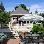 The Gazebo in Summer at the Lamplighter B&B in Ludington Michigan