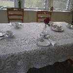 Table set for high tea