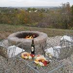 Fire Pit overlooking the city (they plan to do something different with the ground soon)