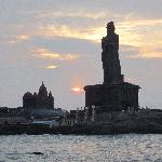 Sunrise from Kanyakumari beach