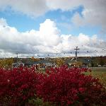 Looking west from front parking lot in October