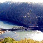 Train Bridge at Hawk's Nest State Park