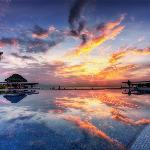 Sunset over Infinity Pool