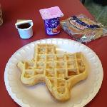  Texas waffle for breakfast!