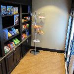 Fully stocked snack shop