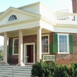 Front entrance to Poplar Forest house