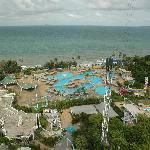 The water park seen from my room