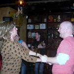 Dancing to traditional Irish music