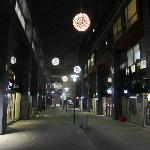 The shopping mall at the stadium - night