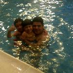 Kids at the Crowne Plaza pool