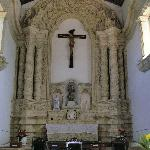 church's limestone altar