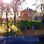 The small mansion a beautiful november day