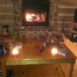 Our cabin fireplace