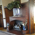 Entry fireplace