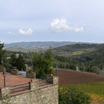 Panoramic Tuscany from the vineyard
