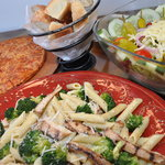 Chicken, Broccoli & Ziti, Pizza & Antipasto