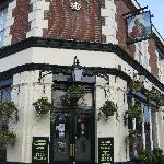 The pub entrance