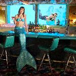 Our famous Sip 'n Dip Lounge with mermaids.