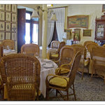 The restaurant is a mix of comfort and history